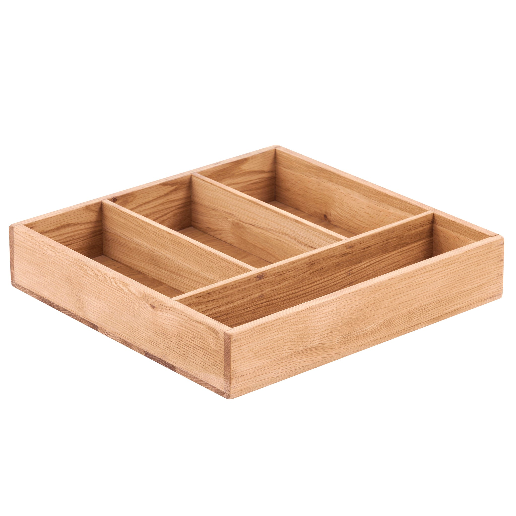 KIC004-K - Solid Oak Cutlery Tray 4 Compartments
