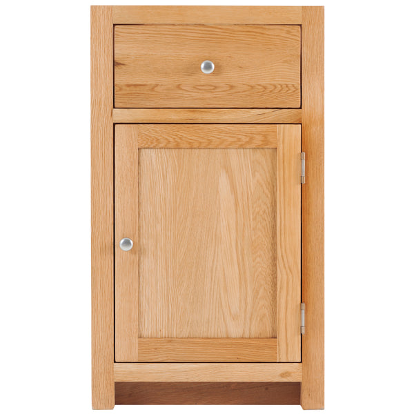 KIC004-R - Oak Medium Base Cabinet 1 Door and 1 Drawer (Hinges RHS)
