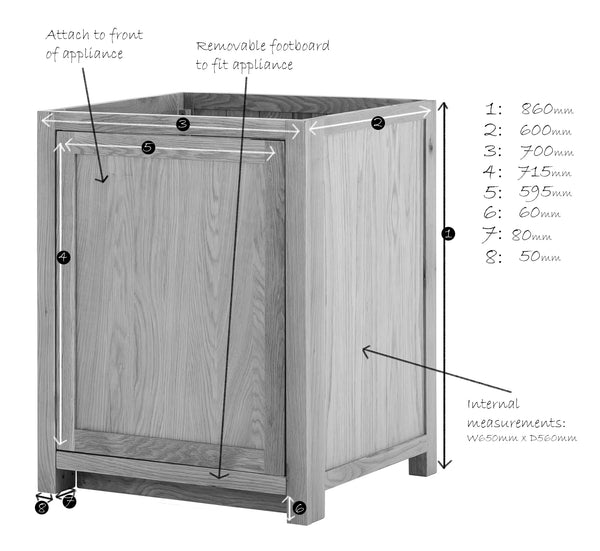KIC006KD - Oak Appliance Cabinet (Full Depth)