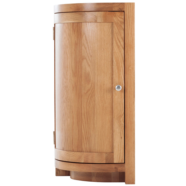 KIC009-L - Oak Curved End Cabinet (Hinges on the LHS)