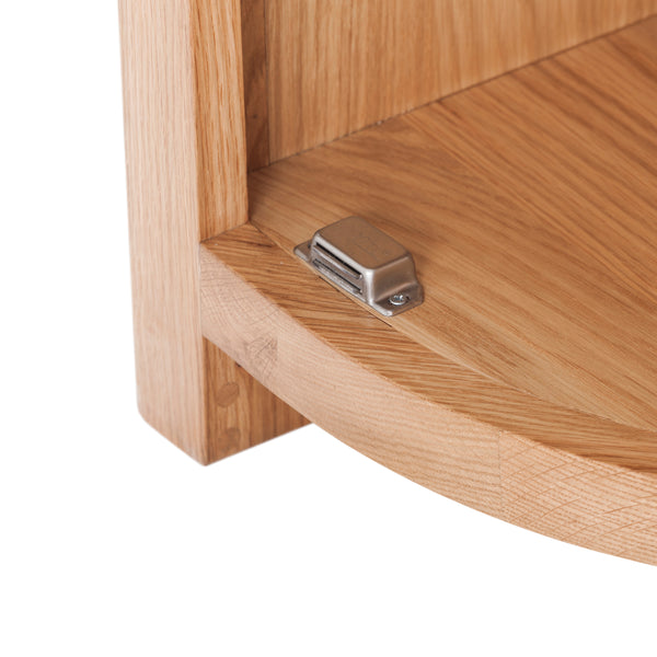 KIC009-R - Oak Curved End Cabinet (Hinges on the RHS)