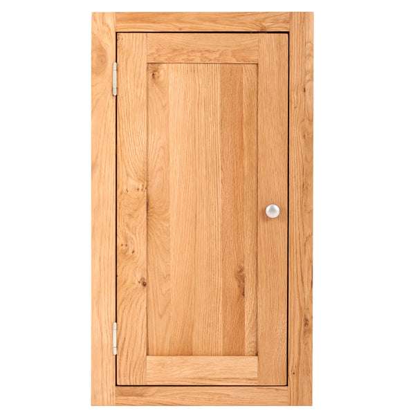 KIC010-L - Small Oak Wall Cabinet (Hinges on the LHS)