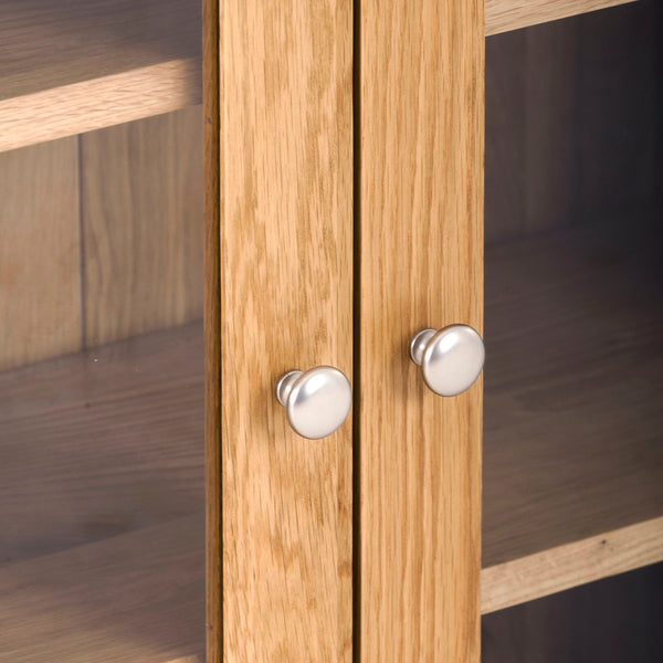 KIC013 - Oak Large 2 Door Glazed Wall Cabinet