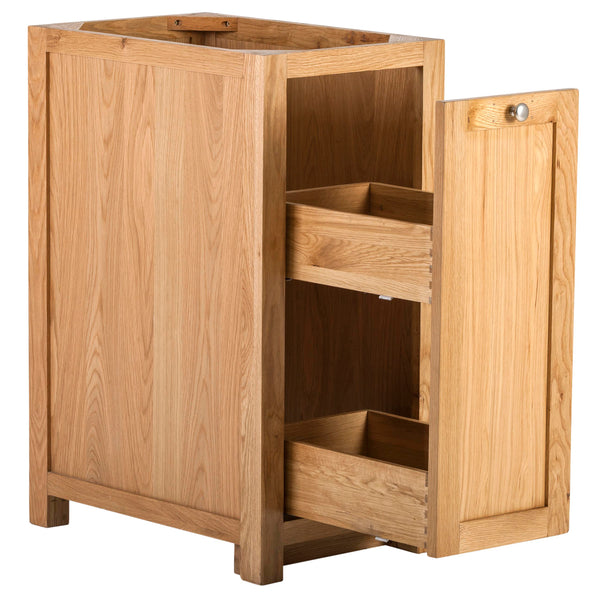 KIC024 - Oak Base Cabinet with Pull-Out Storage