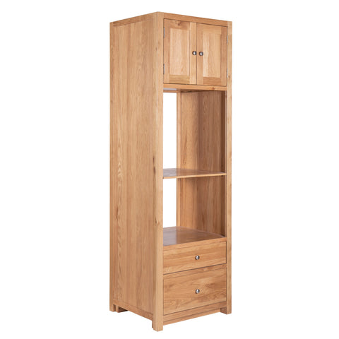 KIC025 - Tall Oak Oven and Compact Appliance Cabinet