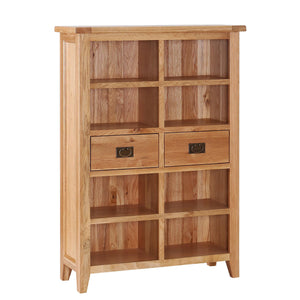 Wide Bookcase with 2 Drawers