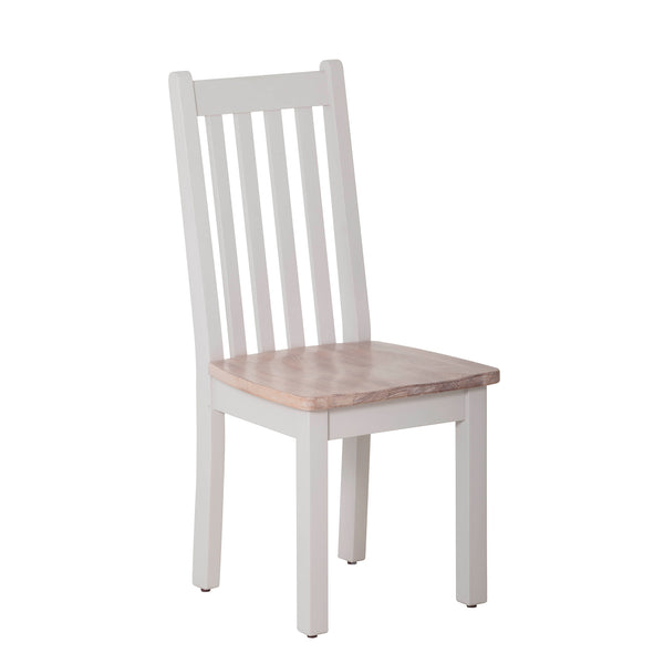 Vertical Slats Dining Chair with Timber Seat