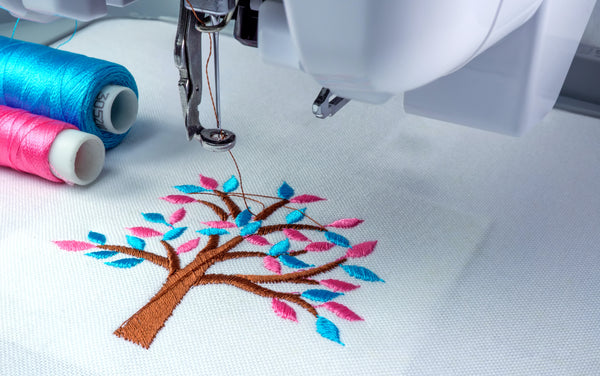 personalised organic embroidery