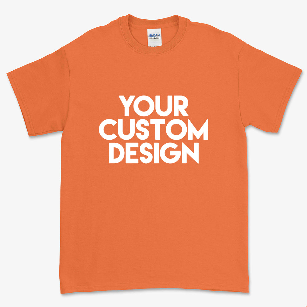 Custom Large T-Shirt (Gildan 2000 Orange)