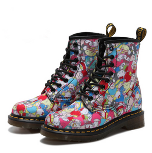 Canvas printed Martin boots