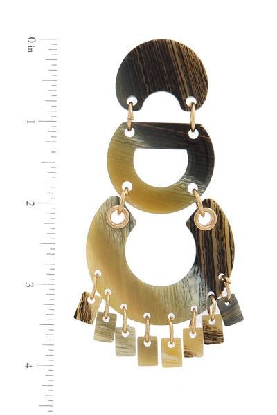 Acetate Geometric Shape Post Drop Earring