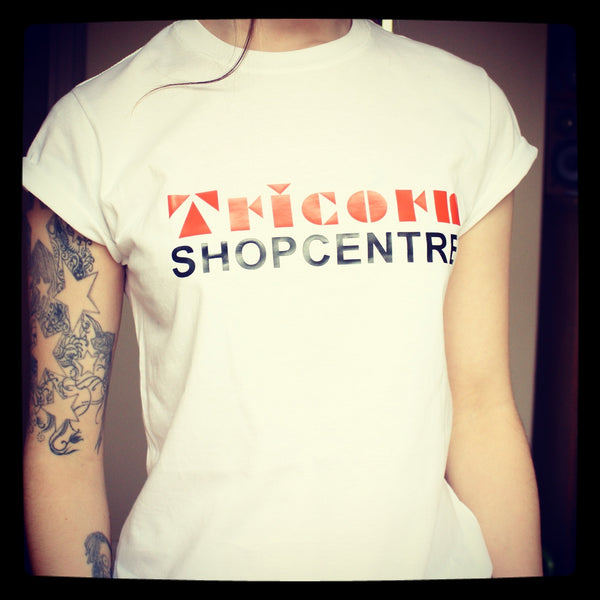 Hillfield Trading Retro Portsmouth Tricorn Centre Ladies T Shirt