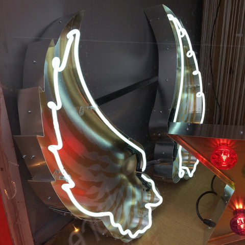 Missing Chopper Large Neon Angel Wings