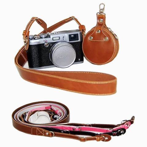 Vintage PU Leather DSLR Fast Camera Strap Shoulder Belt Neck Strap