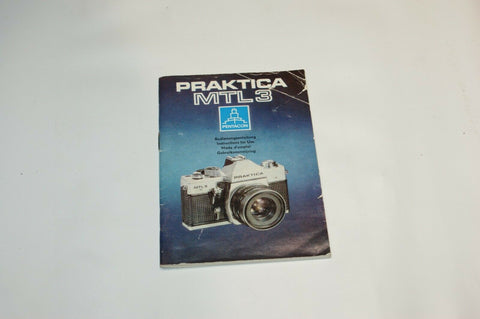 Praktica MTL 3 Instruction Manual Guide Spec