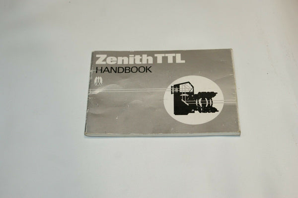 Zenith TTL Instruction Manual Guide Spec