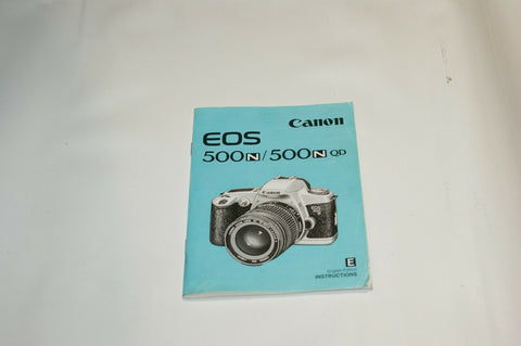 Canon EOS 500N 500N QD Instruction Manual Guide Spec