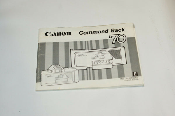 Canon Command Back 70 Instruction Manual Guide Spec