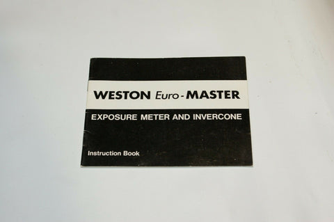 Weston Euro Master Exposure Meter Instruction Manual Guide Spec