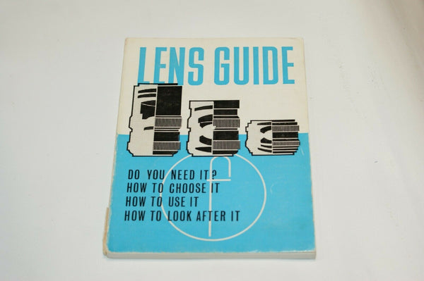 Lens Guide Instruction Manual Guide Spec