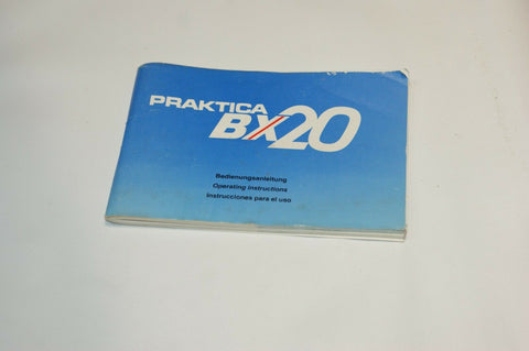 Praktica BX20 Instruction Manual Guide Spec
