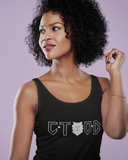 CTOD BLACK WOMEN'S TANK TOPS