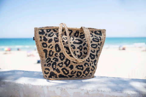 Beach animal print bag
