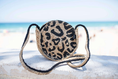Animal print cross bag