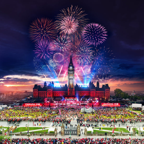 10013 Stephen Wilkes Canada Day 150, Ottawa, Day to Night™ - 4D Puzzle | 4D Cityscape - 4DPuzz