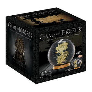 "3D Game of Thrones World Globe Puzzle 3"" - 4DPuzz - 4DPuzz"