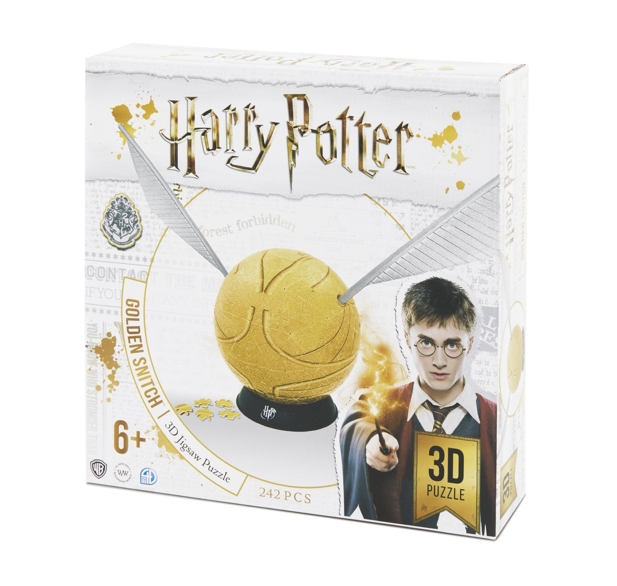 "3D Harry Potter Golden Snitch Puzzle 6"" (242 pcs) - 4DPuzz - 4DPuzz"