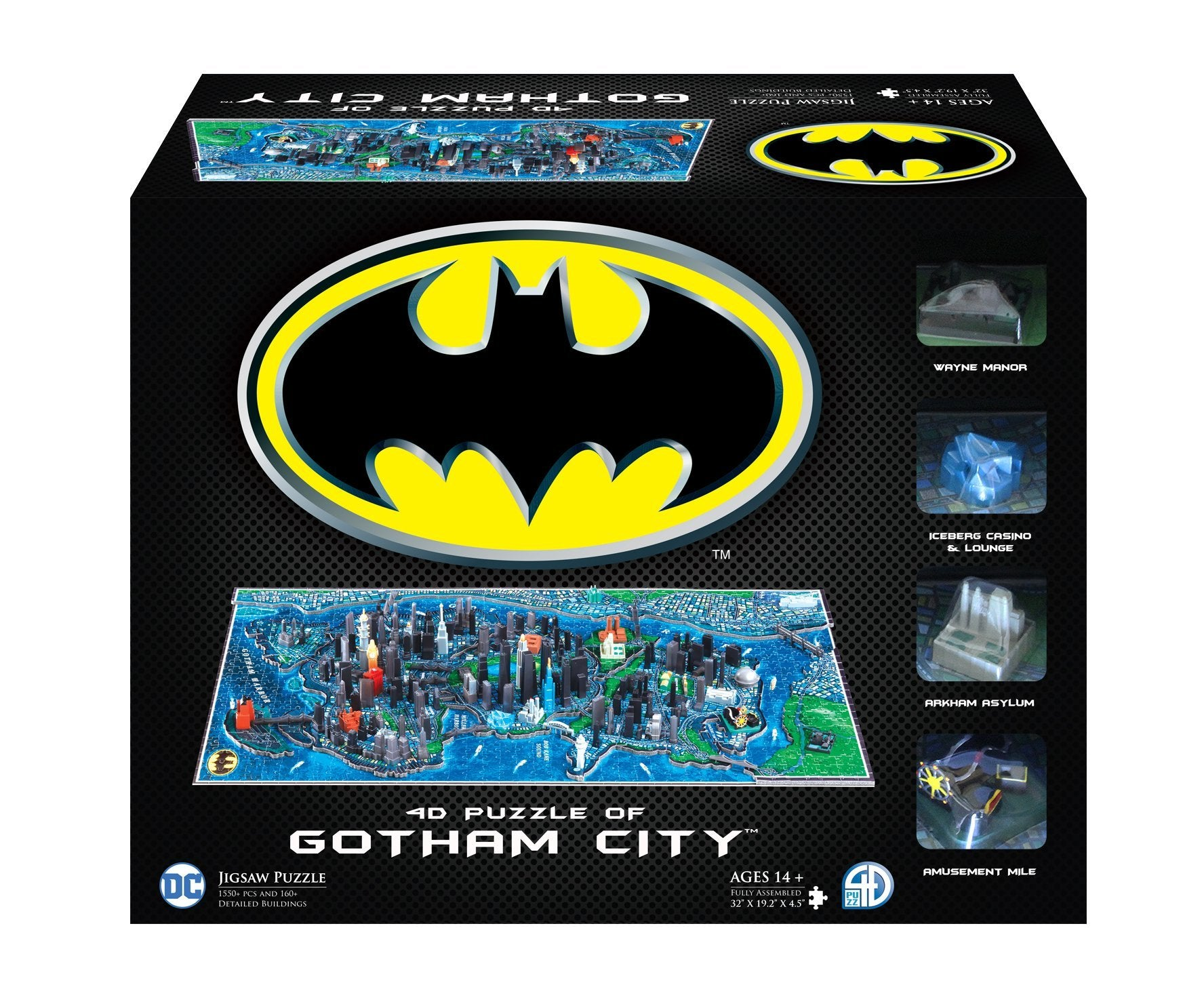 4D Batman Gotham City Puzzle (1500+pcs) - 4DPuzz - 4DPuzz