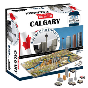 4D Cityscape Calgary Time Puzzle - 4DPuzz - 4DPuzz