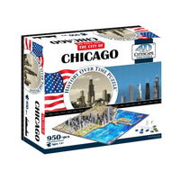 4D Cityscape Chicago Time Puzzle - 4DPuzz - 4DPuzz