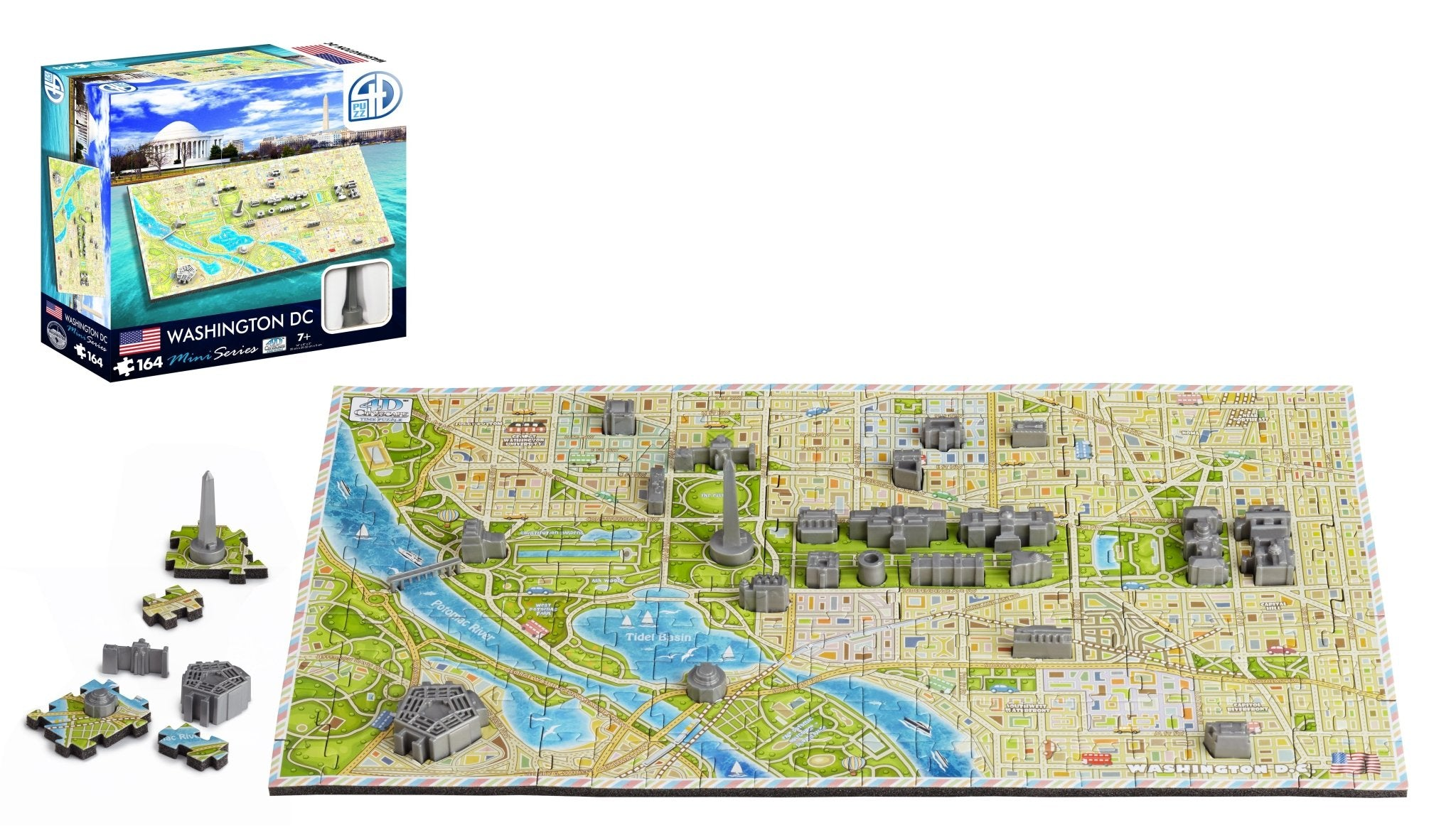 4D Cityscape Mini Washington DC Puzzle - 4DPuzz - 4DPuzz