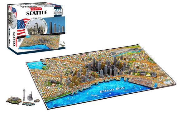 4D Cityscape Seattle Time Puzzle - 4DPuzz - 4DPuzz