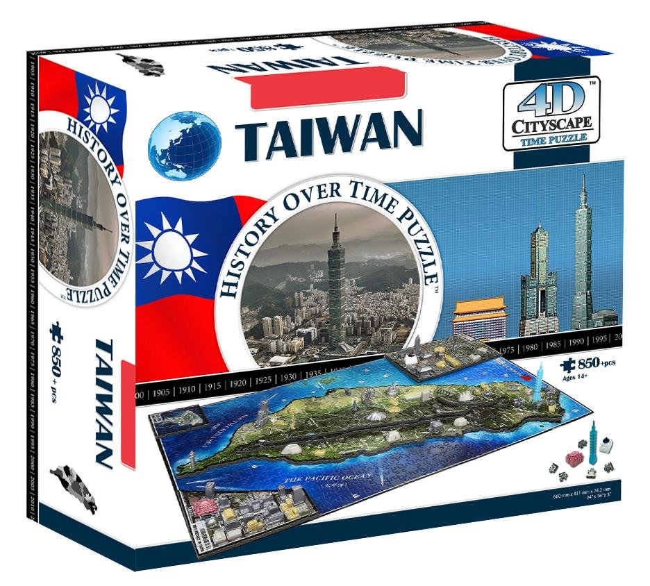 4D Cityscape Taiwan Time Puzzle - 4DPuzz - 4DPuzz