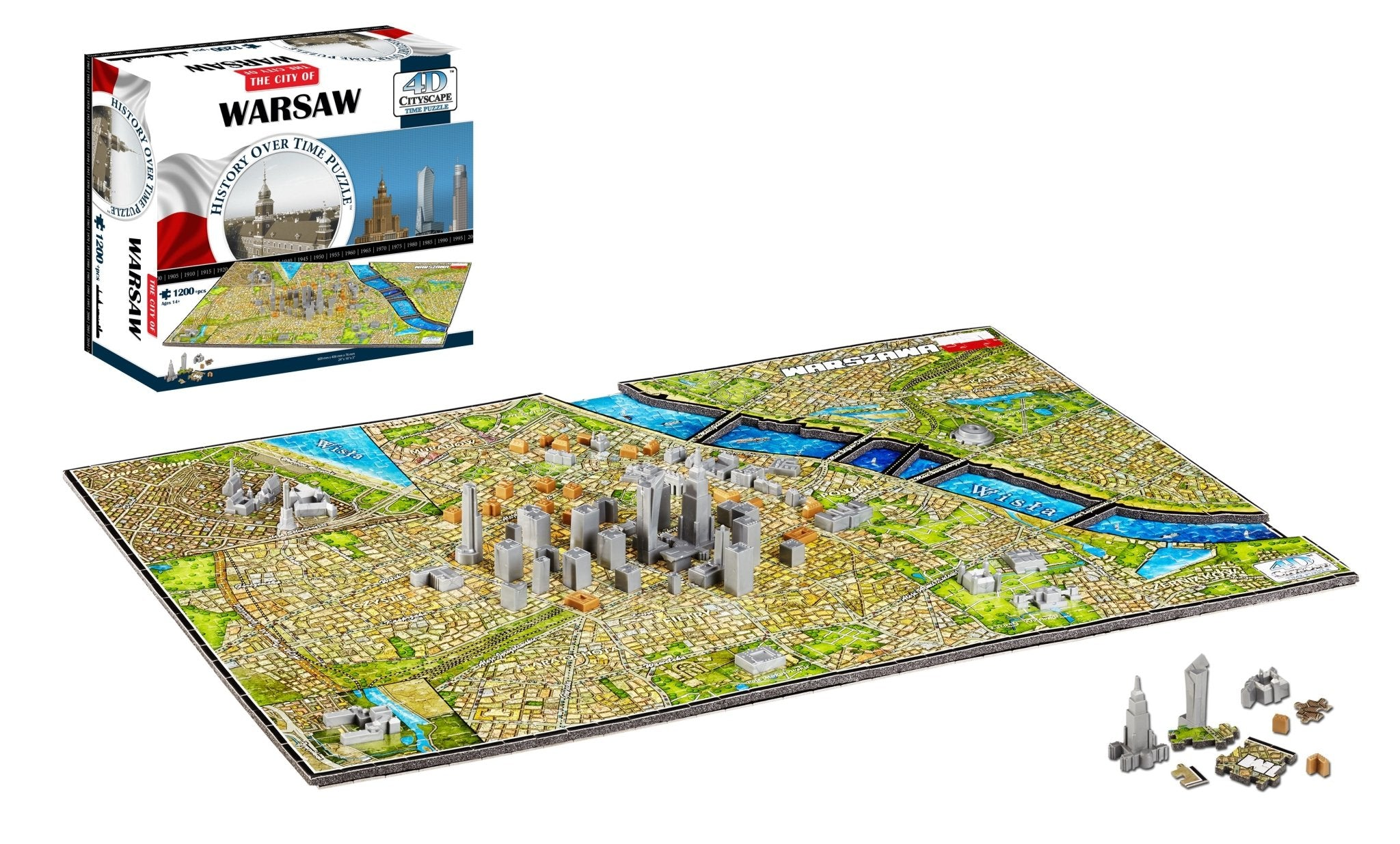 4D Cityscape Warsaw Time Puzzle - 4DPuzz - 4DPuzz