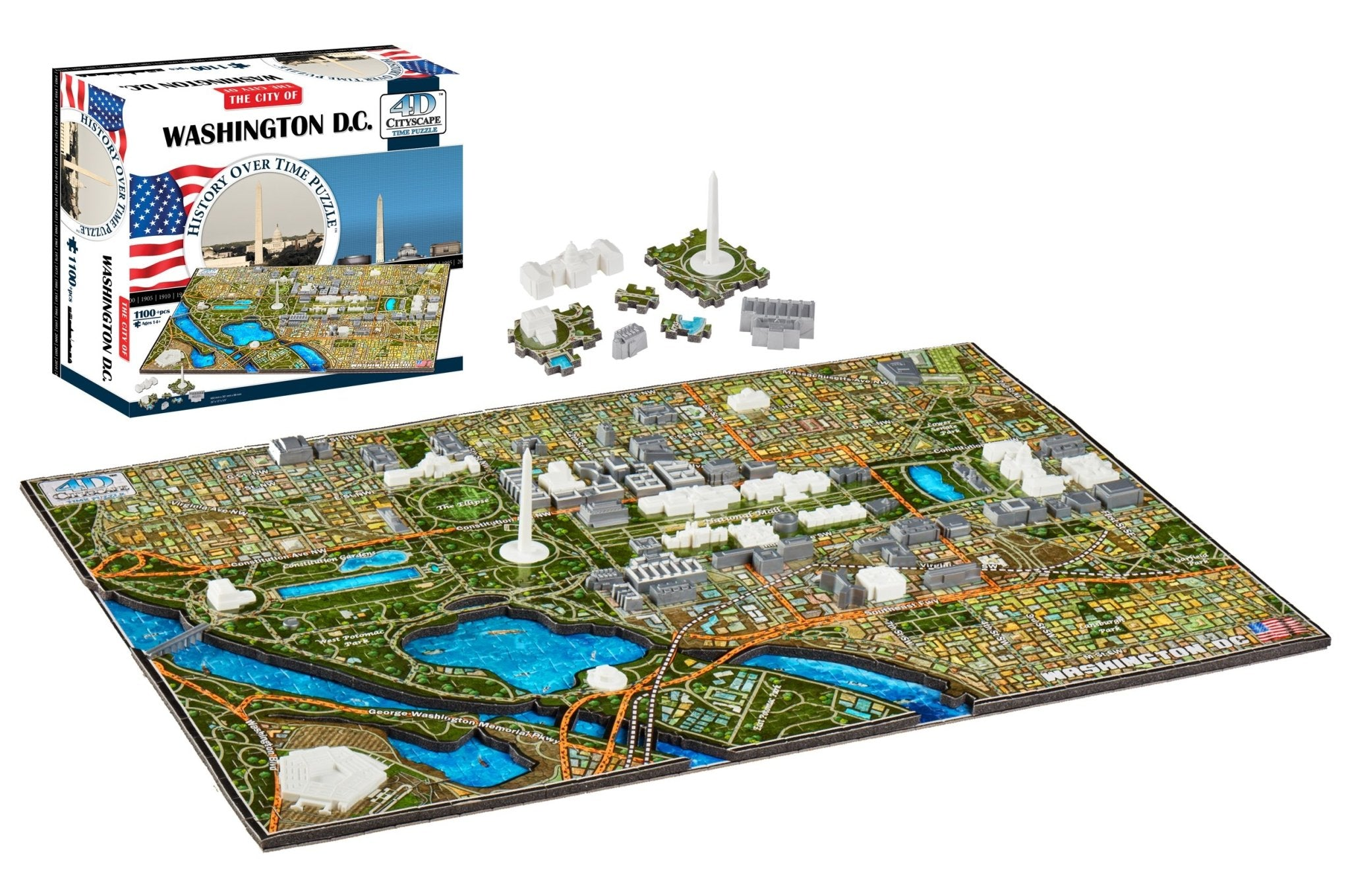 4D Cityscape Washington DC Time Puzzle - 4DPuzz - 4DPuzz