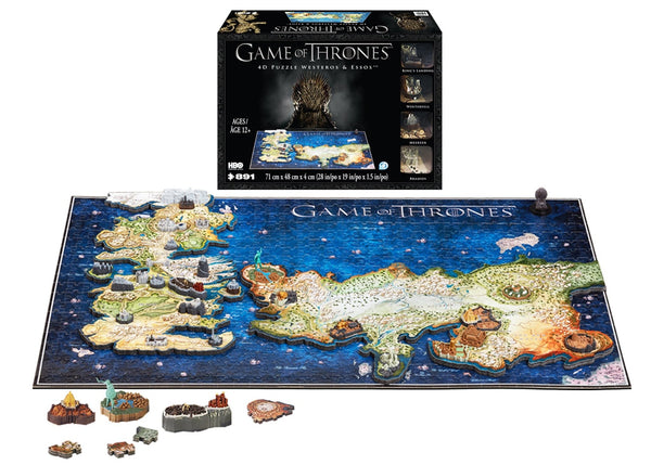 4D Game of Thrones Westeros & Essos Puzzle - 4DPuzz - 4DPuzz