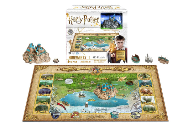4D Harry Potter Puzzle of Hogwarts (543 PCS) - 4DPuzz - 4DPuzz