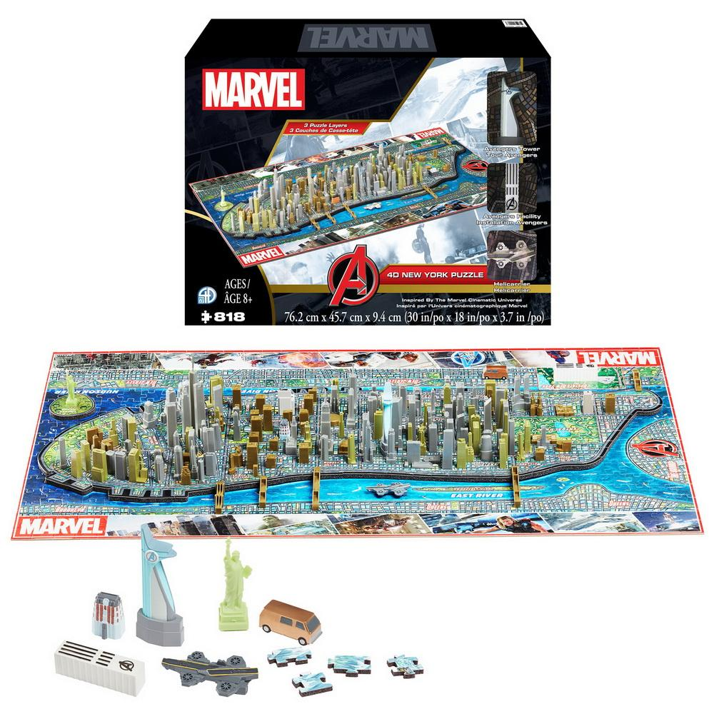 4D Marvel New York Puzzle - 4DPuzz - 4DPuzz