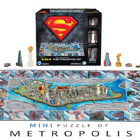 4D Mini Superman Metropolis City Puzzle (833 pcs) - 4DPuzz - 4DPuzz
