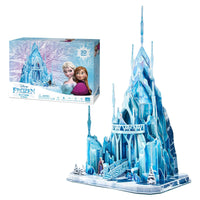 Frozen Ice Palace Model Kit - 4D Puzzle | 4D Cityscape | Collectible Puzzles - 4DPuzz