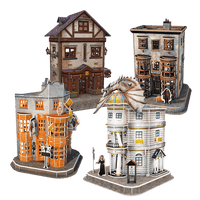 Harry Potter Diagon Alley Paper Model Kit - 4D Puzzle | 4D Cityscape - 4DPuzz