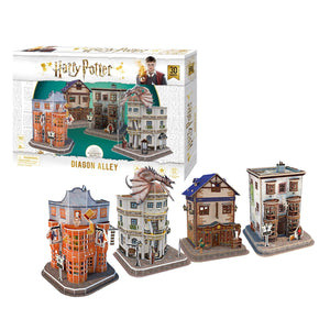 Harry Potter Diagon Alley Paper Model Kit - 4D Puzzle | 4D Cityscape | Collectible Puzzles - 4DPuzz
