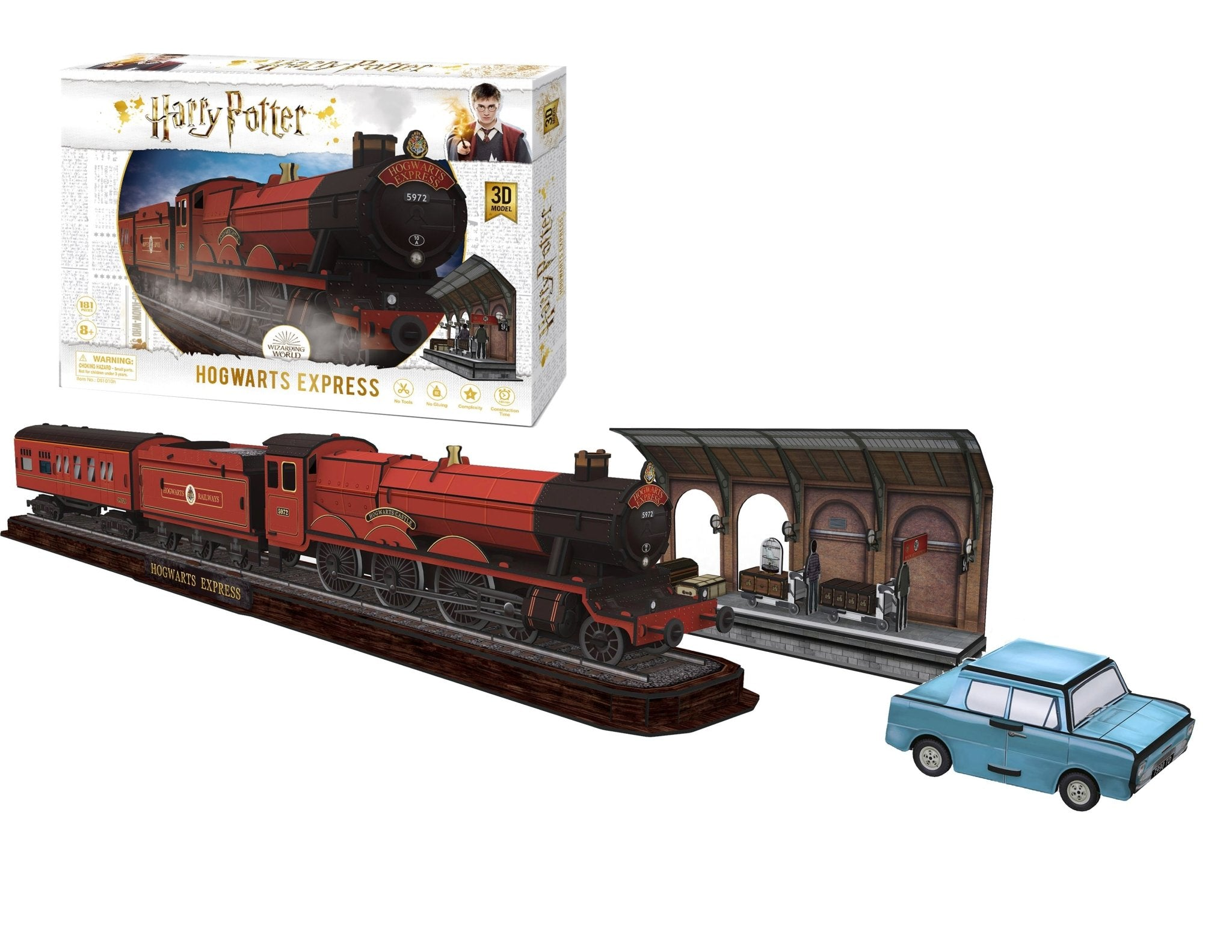 Harry Potter Hogwarts Express Model Kit - 4D Puzzle | 4D Cityscape | Collectible Puzzles - 4DPuzz