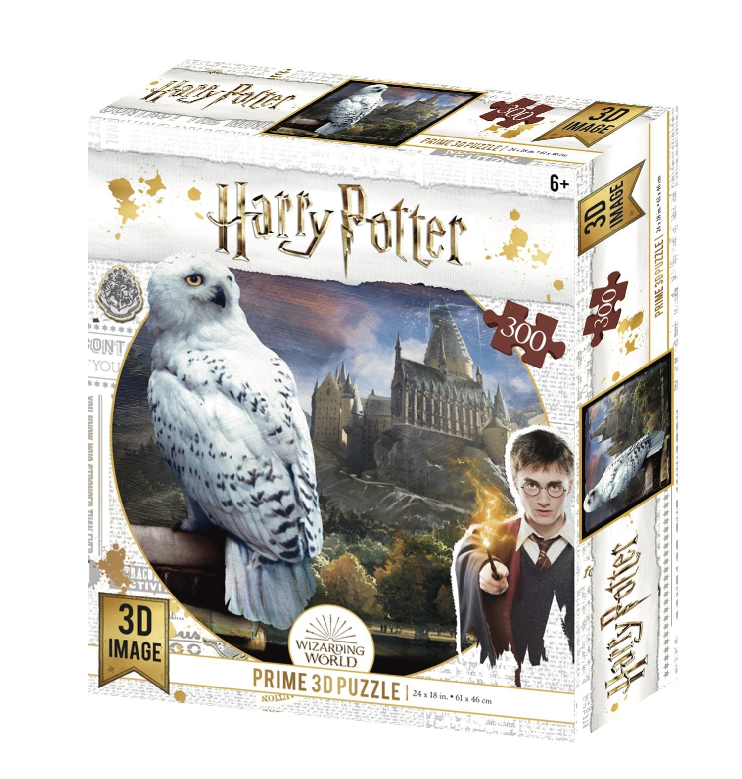 Lenticular 3D Puzzle: Harry Potter Hedwig - 4DPuzz - 4DPuzz