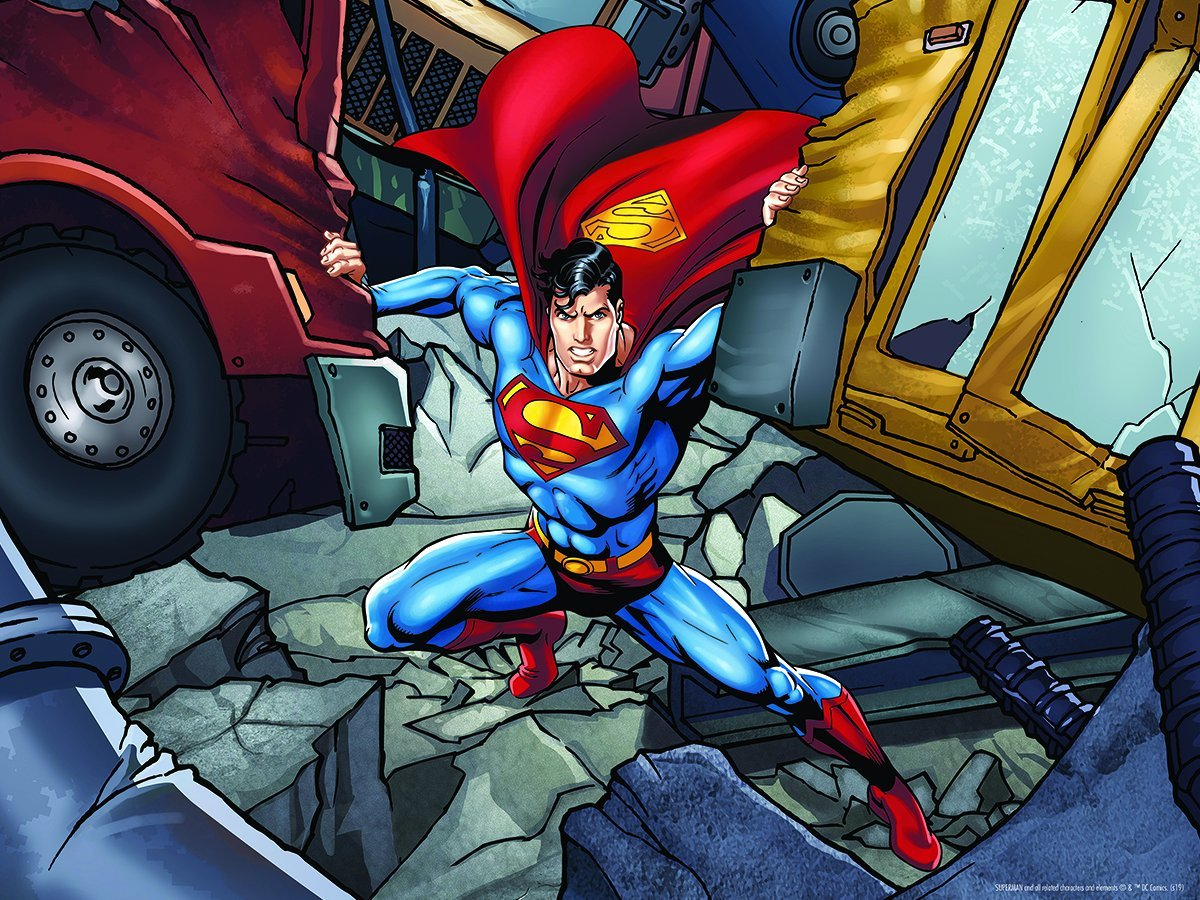 Lenticular 3D Puzzle: Superman Strength - 4DPuzz - 4DPuzz