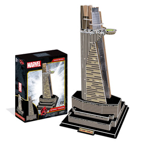 Marvel Avengers Stark Tower Model Kit - 4D Puzzle | 4D Cityscape | Collectible Puzzles - 4DPuzz